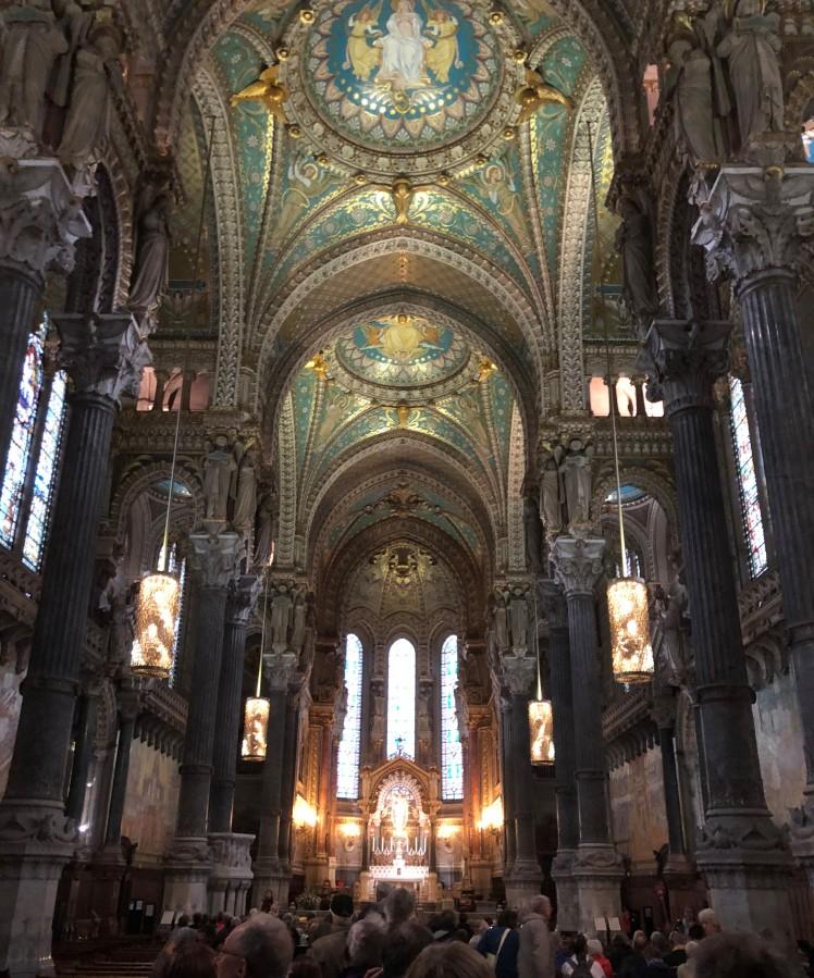 Lyon inside the basilica