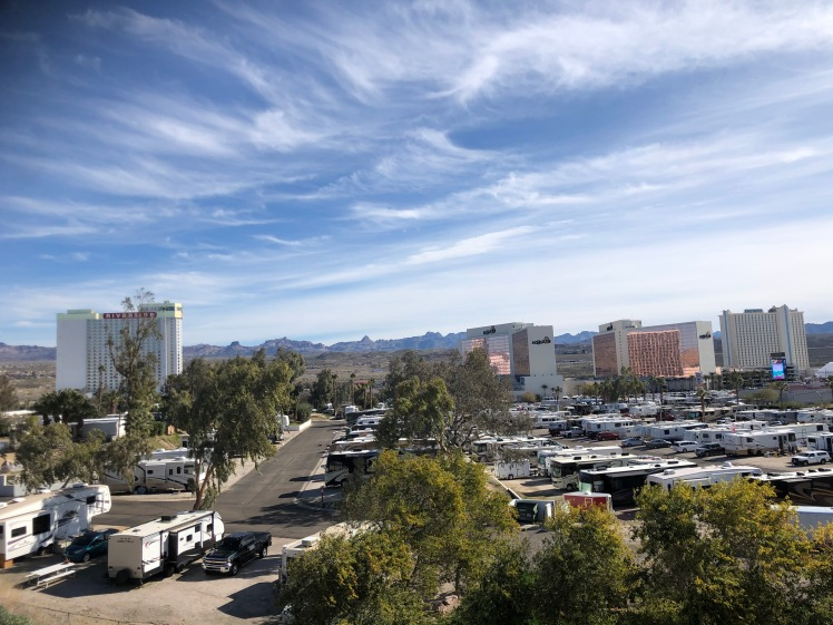 motorhomes at Riverside in Laughlin